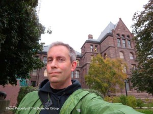 Photo of Peter in front of Queen's Park