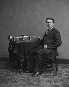 Black and White photo of Thomas Edison