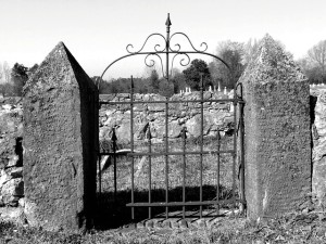 Cemetery entrance gate